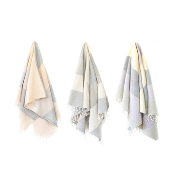 Organic Turkish Rio towel hanging cover