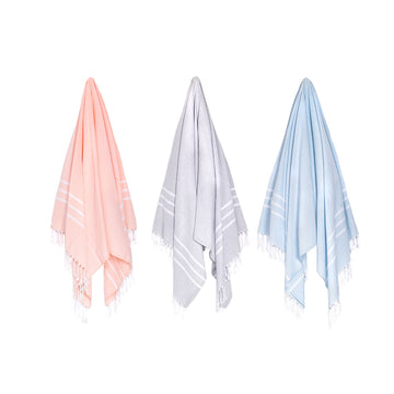 Organic Turkish Riviera towel hanging cover