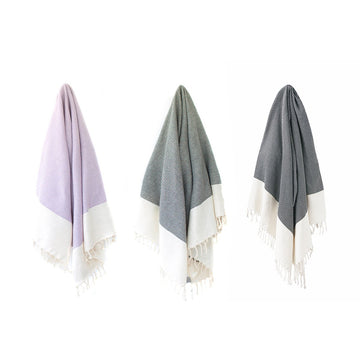 Organic Turkish Wavy towel hanging cover