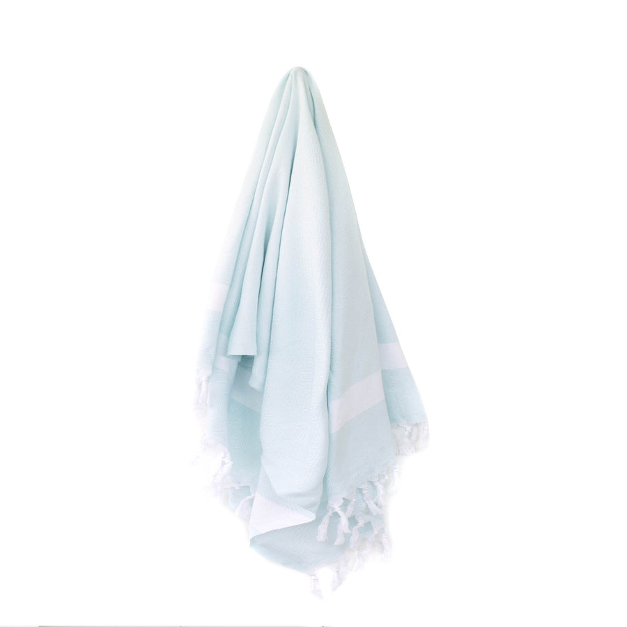Organic Turkish Yara mint towel hanging