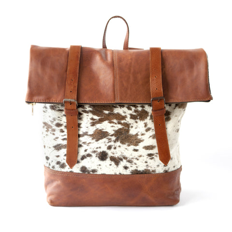 Anywhere Backpack- Brown Calf Hair