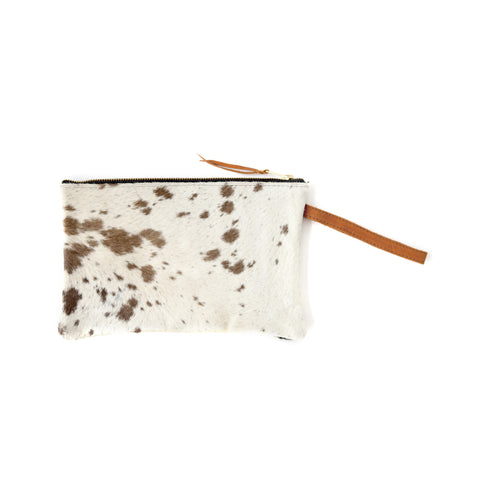 Bedouin Clutch- Brown Calf Hair