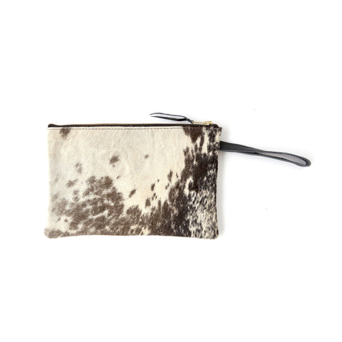 Bedouin Clutch- Black Calf Hair