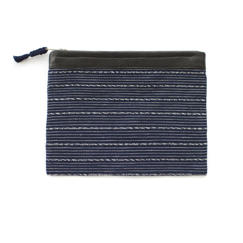Antigua Clutch in Navy & White -