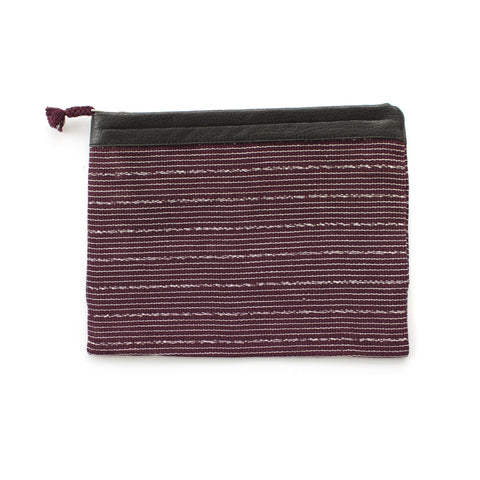 Antigua clutch in Burgundy & White -