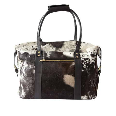 Getaway Overnight Bag- Black Calf Hair