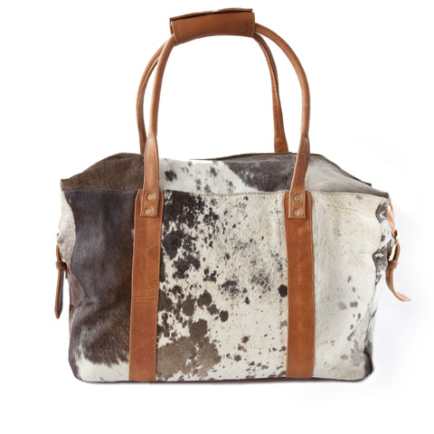 Getaway Overnight Bag- Brown Calf Hair