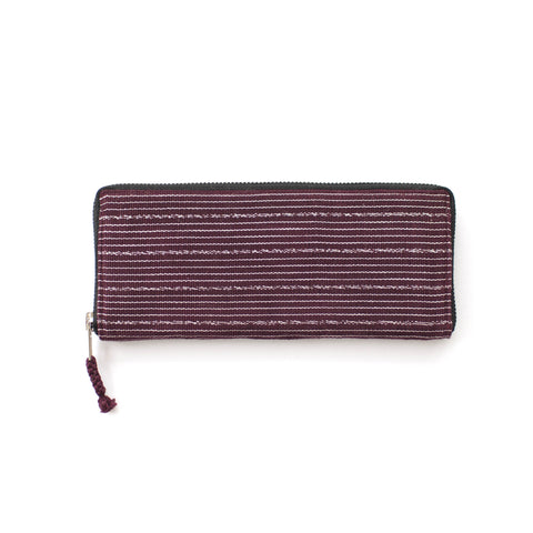 Antigua Wallet in Burgundy & White -  - 1