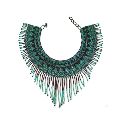 Waterfall Necklace Black / Dark teal -