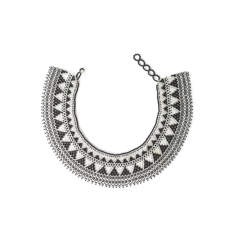 Collar Necklace Black & Clear