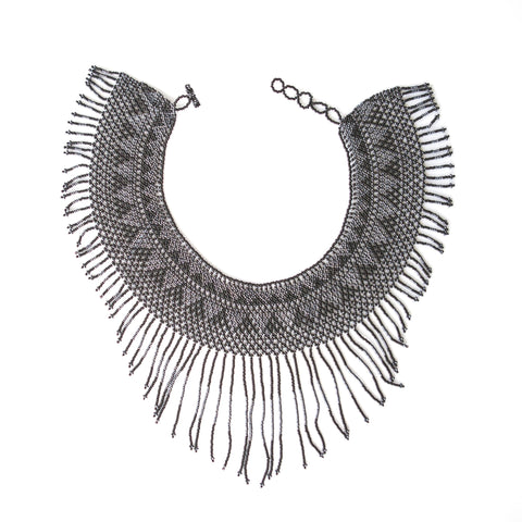 Waterfall Necklace Black & Grey