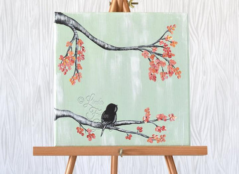 Original Canvas Painting / Bird Painting