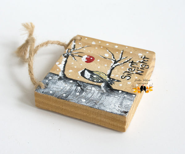 Hand Painted Wood Ornament - Linda Fehlen Gallery