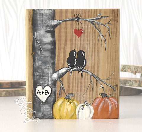 Rustic Wood Sign with Fall Colors  - Wood Fall Decor - Linda Fehlen Gallery