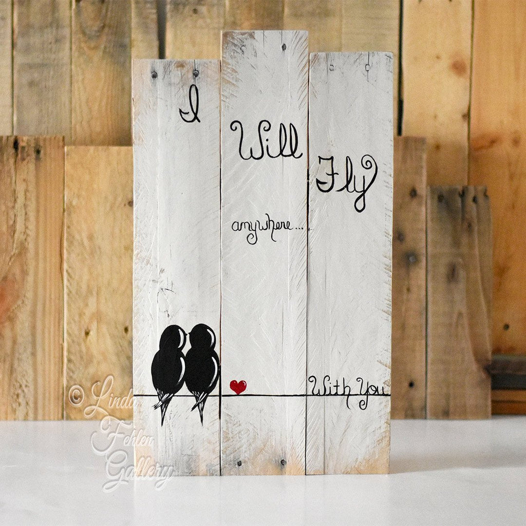 I Will Fly Anywhere With You Wood Valentine Gift 5th Anniversary