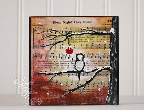 Music Art Silent Night Art Block