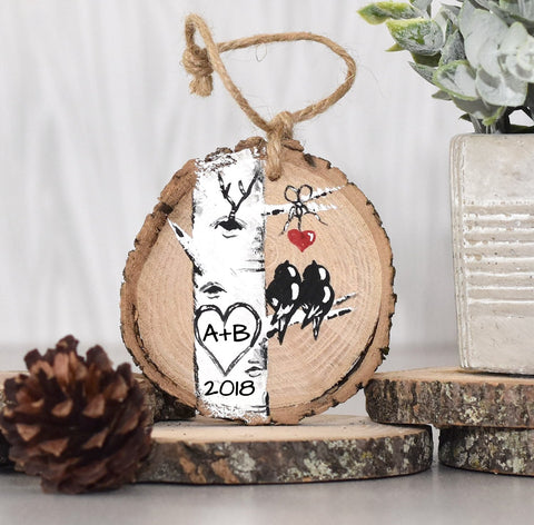 Personalized Hand Painted Colorado Aspen Tree Ornament Gift for Her - Linda Fehlen Gallery