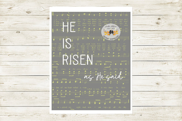 Easter Printable Gray Wall Decor - Linda Fehlen Gallery