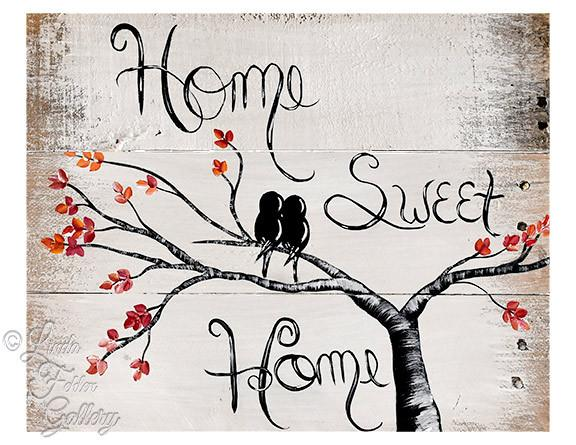 Wood Home sweet Home Print
