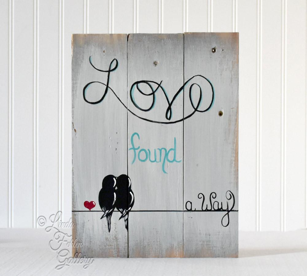 5th anniversary gift Love found a way wood sign art