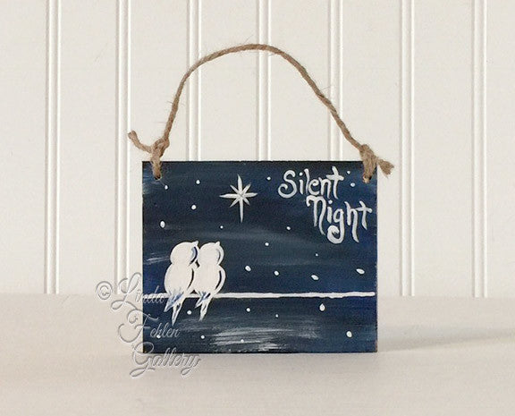 Silent Night Wood Ornament