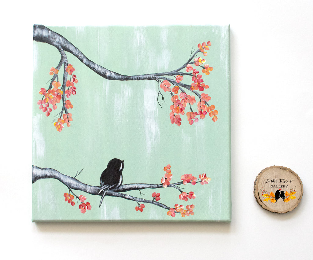 Original Canvas Painting / Bird Painting - Linda Fehlen Gallery