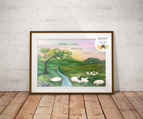 Psalm 23 Printable Wall Art by Linda Fehlen Gallery - Linda Fehlen Gallery