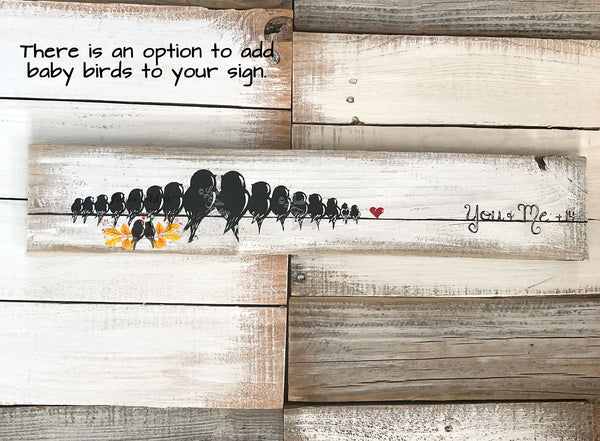 Three Little Birds Wall Art, 5th Anniversary Gift for Bird Lovers - Linda Fehlen Gallery