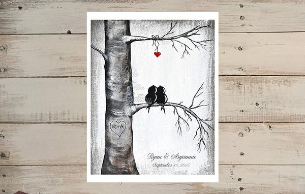 personalized love bird art print