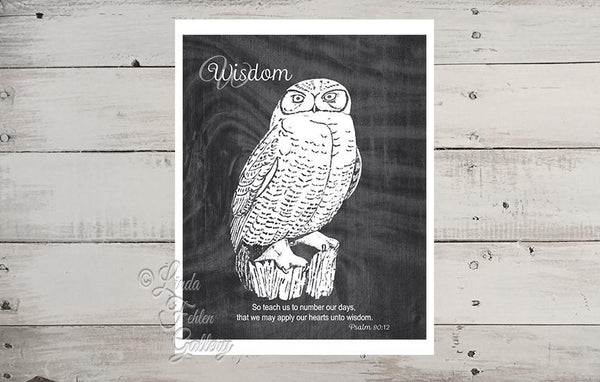 owl print with scripture verse