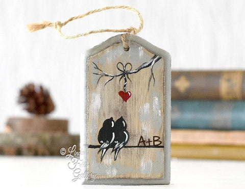 Rustic Wood Ornament Gift for a Couple - Linda Fehlen Gallery