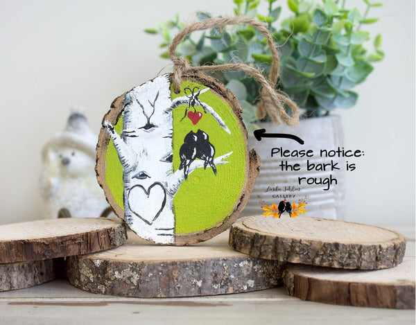 Personalized Hand Painted Colorado Aspen Tree Chartruese Ornament Gift for Her - Linda Fehlen Gallery