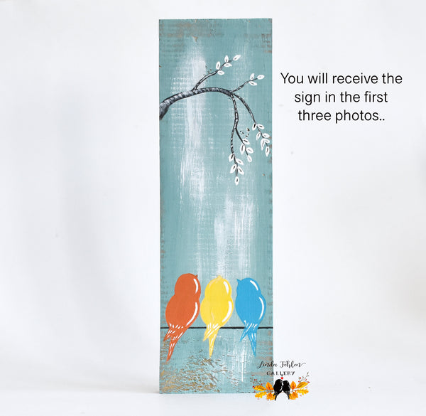Mother's Day Gift, Three Little Birds Painting