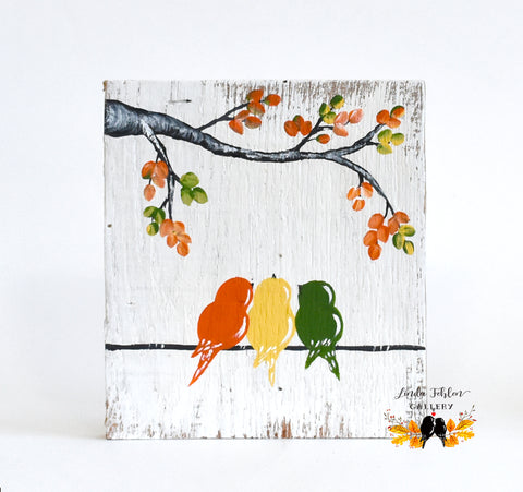 Three Little Birds Wall Art, Mother's Day gift 3 Children