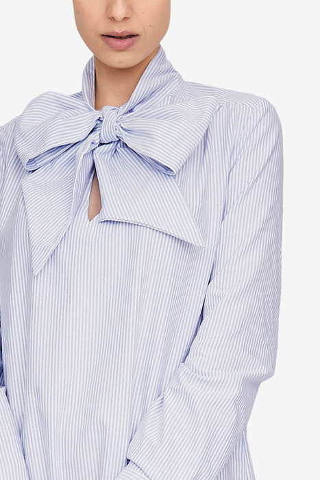 The Sleep Shirt Helena Dress in Oxford Stripe