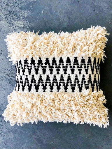 Marramarket Shaggy Centre Zig Zag Pillow