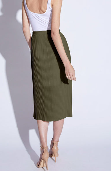 Noel Asmar Joie Pleated Skirt in Olive