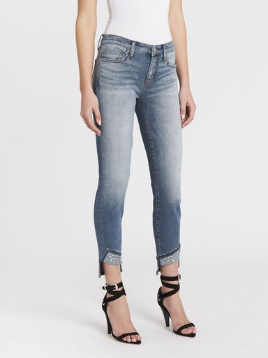 Current Elliott Turnt Ankle Skinny Jean - Keeling Studded