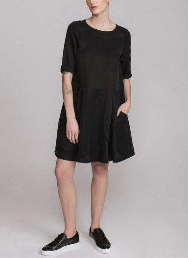 Pillar by Allison Wonderland Sabrina Dress in Black