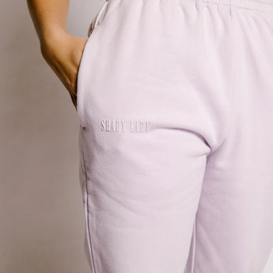 Shady Lady Butter Fleece Joggers in Lilac