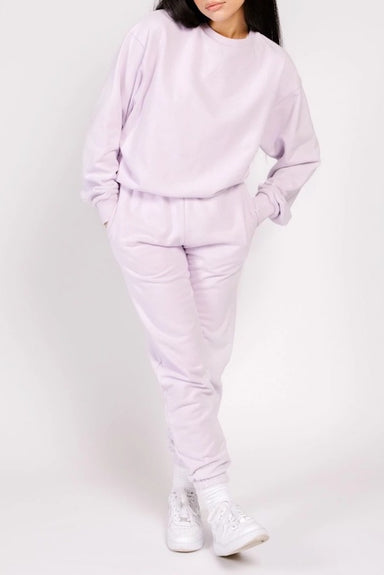 Shady Lady Butter Fleece Crew in Lilac