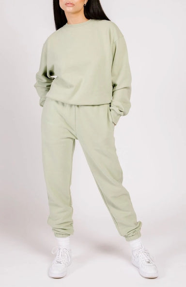 Shady Lady Butter Fleece Joggers in Pistachio