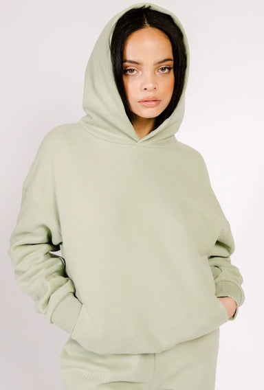 Shady Lady Butter Fleece Hoodie in Pistachio