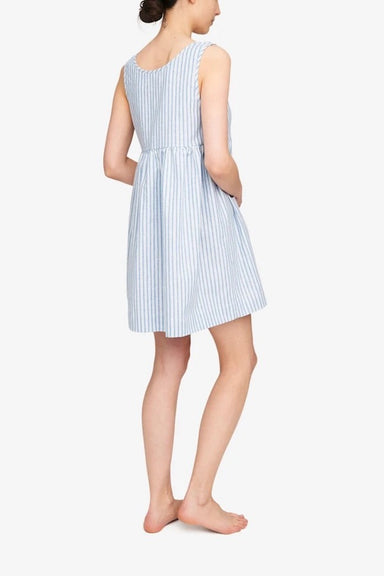 The Sleep Shirt Pocket Nightie in Sapporo Cotton Linen Stripe
