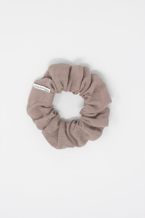 Charlie & Paisley Rosalie Petite Scrunchie in Washed Linen Puce