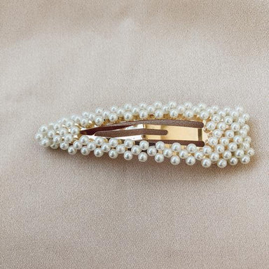 Horace Jewelry Perlée Barrettes in Ivory