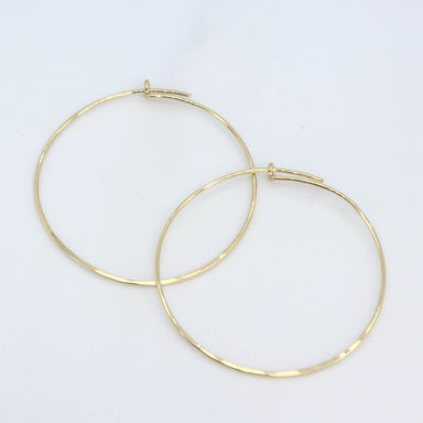 Mindan's Designs Textured Gold Hoops