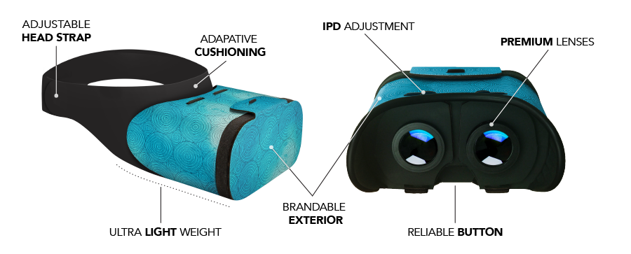 VR Headset Features, Branded, Custom
