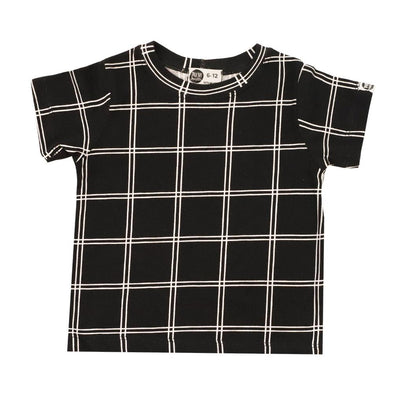Camiseta Infantil Unissex Black Check