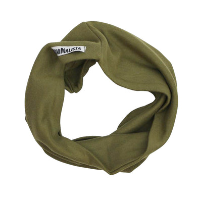 Scarf Infantil Unissex Liso Collection Oliva para 2 anos+